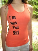 "Image of ""I'm Not That Girl"" Tank Top (Peach)"