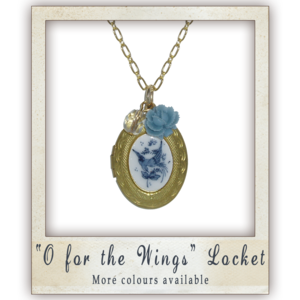 "Image of ""O for the Wings"" Locket - More colours available"
