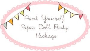 Image of Print Yourself Paper Doll Party Package