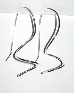 Image of sterling silver spiral earrings