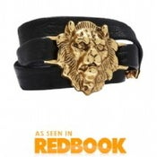 Image of Large Lion Leather Bracelet *As seen in Lucky Magazine, Redbook Magazine, and Accessories Magazine