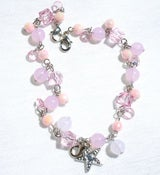Image of Tiara Charms - Pink Stars