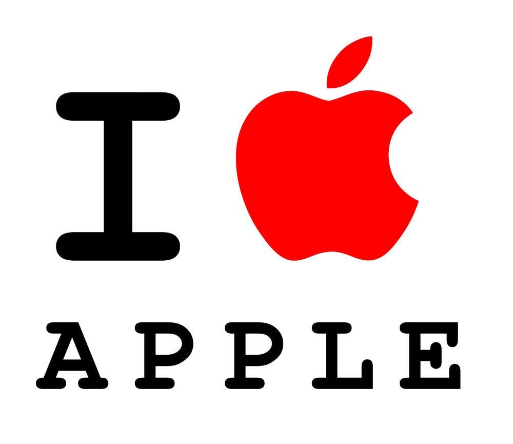 I Love Logos I Love Apple