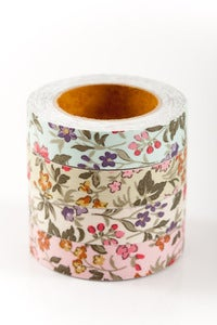 Image of 1 pk fabric tape - wild flowers - baylee - FT004