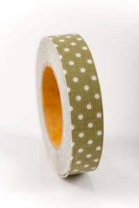 Image of 1 pk fabric tape - polka dots - jane - FT011