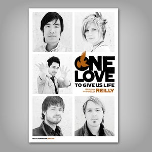Image of Autographed One Love Poster