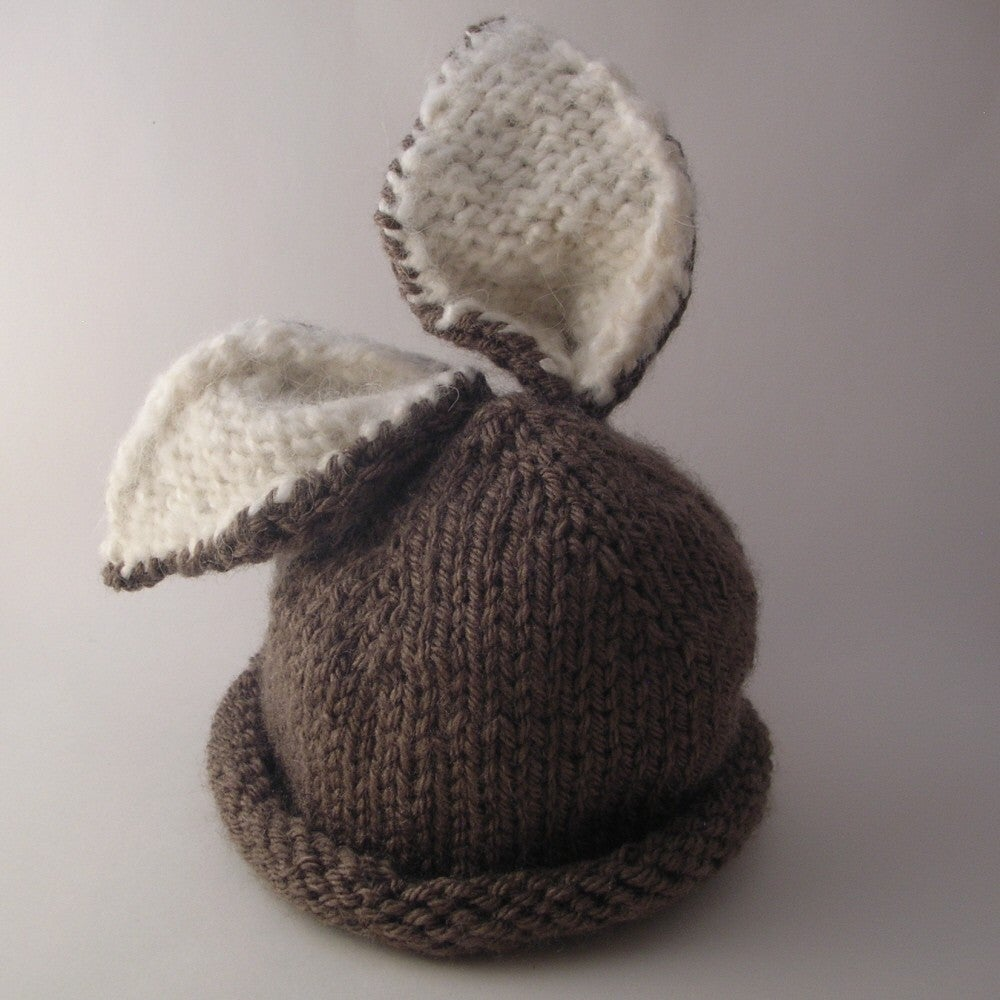 Free Knitted Baby Hat Patterns : Briar Bunny Baby Hat Knitting Pattern / Knit it Up Yarns