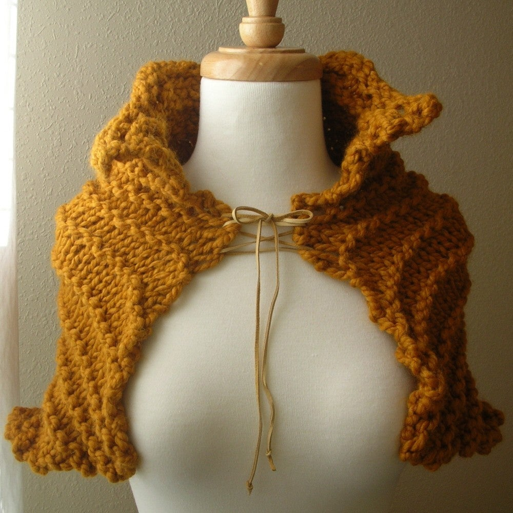Free Capelet Knitting Patterns : Capelet Free Knitting Pattern Patterns Gallery