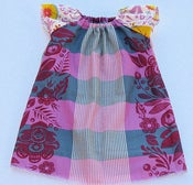 Image of The Raglan Shift Dress in Plum Picnic