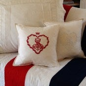 Image of Embroidered Monogram Cushion