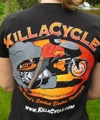 Image of KillaCycle team shirt with Chip Gribben artwork!