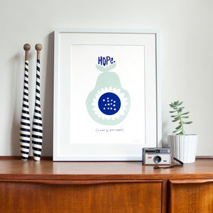 Image of Hope Screen Print | Aqua