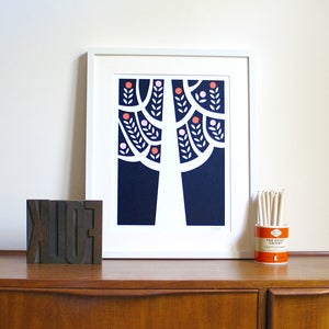Image of The Woods Screen Print | Navy
