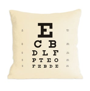 Image of Eye Chart Pillow