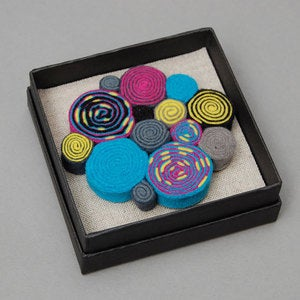 Image of 80's colours felt brooch