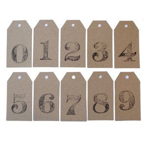Image of Kraft Numbered Tags 