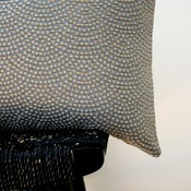 Image of GREY PEBBLE BEACH Cotton Silk Rayon Cushion Cover 50 x 30 cm
