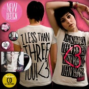 Image of I LESS THAN THREE YOU TEE <3