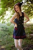 Image of *As seen on Elle Fanning* Miss Patina 60s Cute Sailor Dress (Red Ribbon) on sale