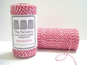 Image of Maraschino - Red & White Eco-Luxe Baker's Twine