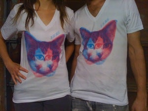 The Love Language 3D Kitty V-Neck