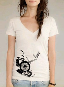 Image of Freedom Cruiser ladies v neck *earth natural
