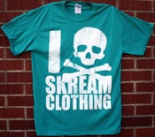 "Image of ""I Skull Skream Clothing"" T-Shirt (Jade)"