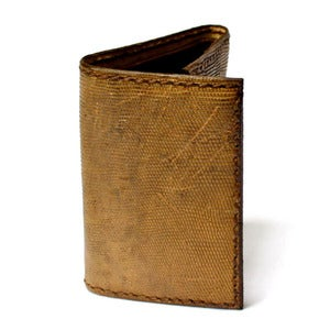 Image of Iguana Skin Tri-fold Wallet