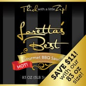 Image of 83 OZ. Loretta's Best BBQ Sauce | HOT Flavor