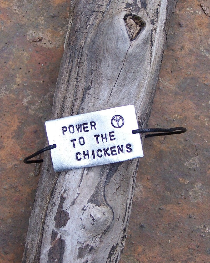 Power to the chickens braclet
