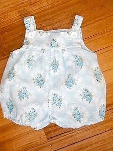Image of Blue vintage floral baby romper