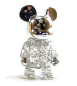 Image of 2.5&quot; Qee Silver Shining Star Bear