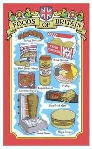 Image of SHITE FOOD TEA TOWEL