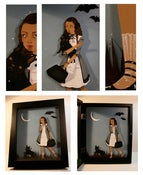 Image of Travel Beam - original articulated paper doll in shadowbox