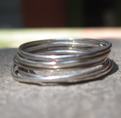 Image of 18g sterling silver stacking rings