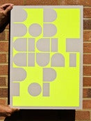 Image of Flouro Yellow Bob Eight Pop Poster