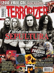 Image of Terrorizer #200 (Summer 2010) - Sepultura, Danzig, 200 essential albums, Sick Sounds #3 and more!