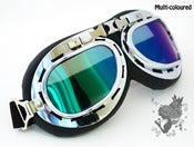 Image of Cyber Steampunk Pilot Aviator Motor Goggles