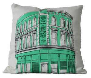 Image of East End Pub Crawl Cushion, GEORGE & DRAGON