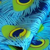 Image of Peacock Scatter Fabric