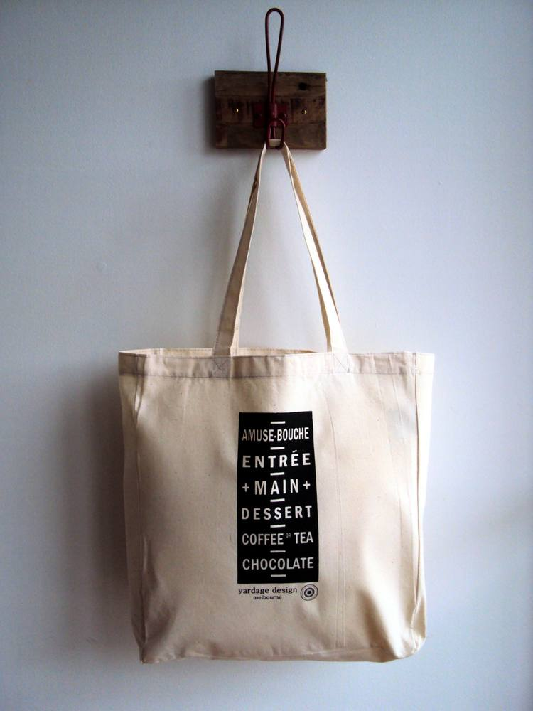 Image of Vintage Tram Roll Menu Market Bag