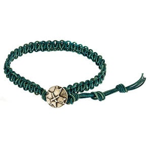 Image of Men's Leather Woven Bracelet
