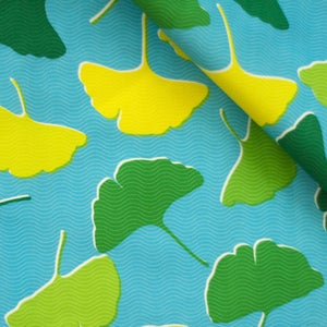 Image of Ginkgo Tropicale Fabric