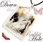 Image of Alice in Wonderland Pendant - Down the Rabbit Hole