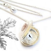 Image of Victorian Bird's Egg Locket - The Goldfinch