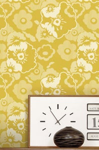 Image of Alice Wallpaper - Mustard