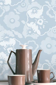 Image of Alice Wallpaper - Powder Paint Blue