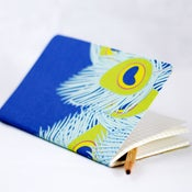Image of Peacock Fabric Notebook