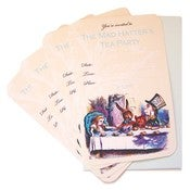 Image of The Mad Hatter's Tea Party Invitations - SET of 4