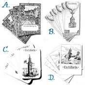 Image of Steampunk Bookplates in SETS of 8